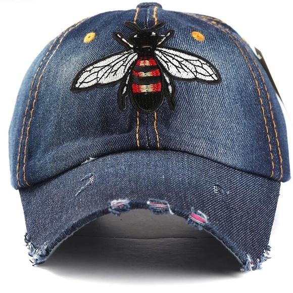 🌹QUEEN BEE DENIM BASEBALL HAT 🌹 25479d0a51d